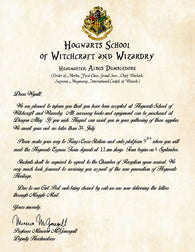 Hogwarts Personalized Harry Potter Acceptance Letter - You've been Accepted!