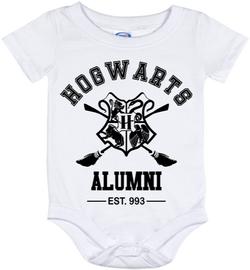 Cute Harry Potter Hogwarts Alumni 993 Onesie - all sizes from (New born - 24 months)