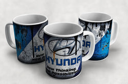 Hyundai Vintage Distressed Retro Cool Mug