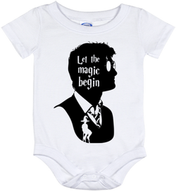 Cute Harry Potter Magic Begins Onesie - all sizes from (New born - 24 months)