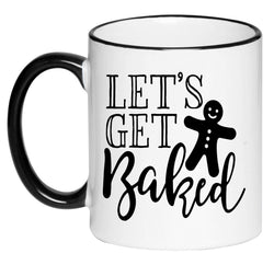 Let's Get Baked Funny Cute Mug Hot Cocoa Cup, Gift for Her, Gift for Women, Hot Chocolate, 11 Ounce Ceramic Mug