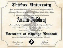 "Chicago White Sox Ultimate Baseball Fan Personalized Diploma - 8.5"" x 11"""