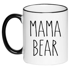 Mama Bear Farmhouse Mug Rae Dunn Inspired Coffee Cup, Gift for Her, Farmhouse Decor, Gift for Women, Hot Chocolate, 11 Ounce Ceramic Mug