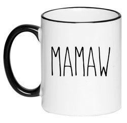 Mamaw Farmhouse Mug Rae Dunn Inspired Coffee Cup, Gift for Her, Farmhouse Decor, Gift for Women, Hot Chocolate, 11 Ounce Ceramic Mug