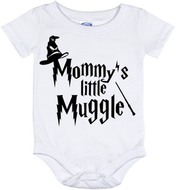 Cute Harry Potter Mommy's Muggle Onesie - all sizes from (New born - 24 months)