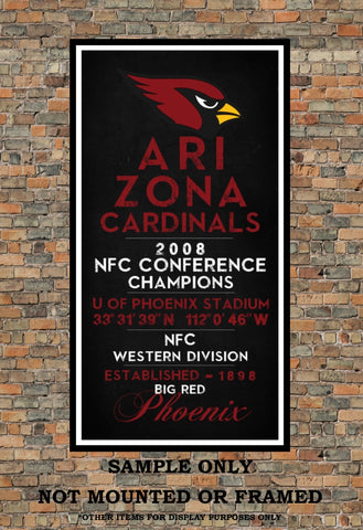 Arizona Cardinals Eye Chart chalkboard Subway print