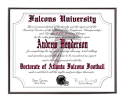Personalized Wood Plaque of the Atlanta Falcons for the Ultimate Football Fan