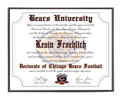 Personalized Wood Plaque of the Chicago Bears for the Ultimate Football Fan