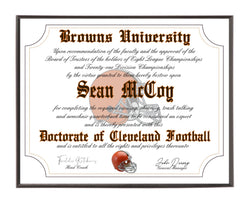 Personalized Wood Plaque of the Cleveland Browns for the Ultimate Football Fan