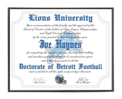 Personalized Wood Plaque of the Detroit Lions for the Ultimate Football Fan