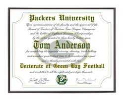 Personalized Wood Plaque of the Green Bay Packers for the Ultimate Football Fan