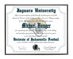 Personalized Wood Plaque of the Jacksonville Jaguars for the Ultimate Football Fan