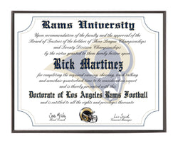 Personalized Wood Plaque of the Los Angeles Rams for the Ultimate Football Fan