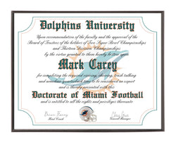 Personalized Wood Plaque of the Miami Dolphins for the Ultimate Football Fan