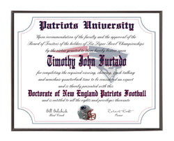 Personalized Wood Plaque of the New England Patriots for the Ultimate Football Fan