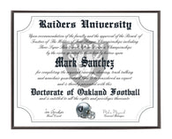 Personalized Wood Plaque of the Oakland Raiders for the Ultimate Football Fan