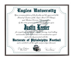 Personalized Wood Plaque of the Philadelphia Eagles for the Ultimate Football Fan