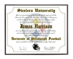 Personalized Wood Plaque of the Pittsburgh Steelers for the Ultimate Football Fan