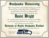 "Seattle Seahawks Ultimate Football Fan Personalized Diploma - 8.5"" x 11"" Parchment Paper"