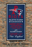 New England Patriots - Eye Chart chalkboard print - sports, football, gift for fathers day, subway sign - Eyechart wall art