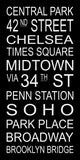 New York City Subway Sign - Central Park, Broadway, Penn Station, Midtown, Soho, Times Square - Multiple Sizes