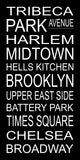 New York City Subway Sign Print - Tribeca, Harlem, Midtown, Battery Park, Times Square, Broadway