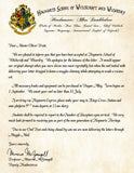 Hogwarts Personalized Harry Potter Acceptance Letter with Apologies for Being Late