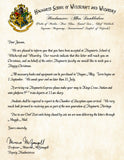 Hogwarts Personalized Harry Potter Acceptance Letter with Christmas Wishes