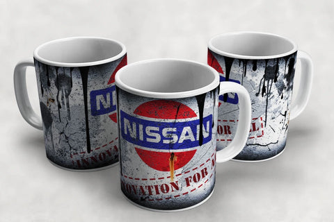 Nissan Vintage Distressed Retro Cool Mug