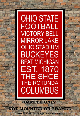 Ohio State Buckeyes Subway Wall Art Print