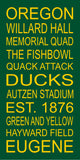 Oregon Ducks Subway Wall Art Print