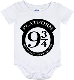 Cute Harry Potter Platform Onesie - all sizes from (New born - 24 months)