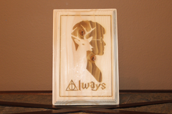 Harry Potter Always Wood Engraved Wall Plaque Art Sign