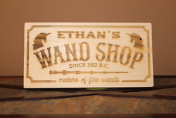 Personalized Harry Potter Wand Shop Wood Engraved Wall Plaque Art Sign