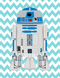 Star Wars Nursery Decor Set of 4 Art Prints - Be Kind, Be Brave, Be Curious, Love, R2D2 and Luke Skywalker
