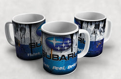 Subaru Vintage Distressed Retro Cool Mug
