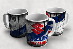 Suzuki Vintage Distressed Retro Cool Mug