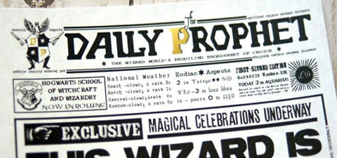 Personalized Hogwarts The Daily Prophet