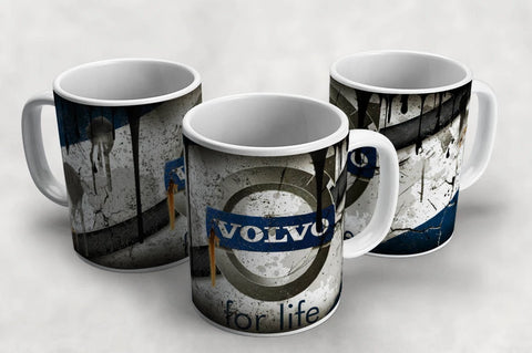 Volvo Vintage Distressed Retro Cool Mug