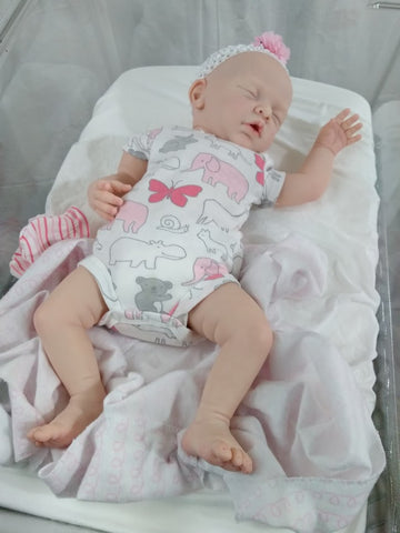 "Yannie by Gudrun Legler 20"" Bald Sleeping Reborn with 3/4 Arms and Full Legs - Ready to Ship"