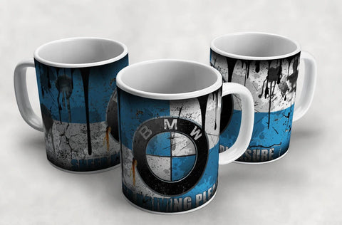BMW Vintage Distressed Retro Cool Mug
