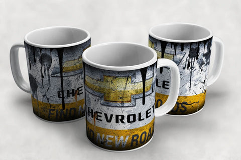 Chevrolet Vintage Distressed Retro Cool Mug