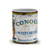 Conoco Motor Oil Vintage Distressed Retro Cool Mug