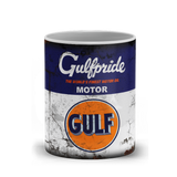 Gulf Motor Oil Vintage Distressed Retro Cool Mug