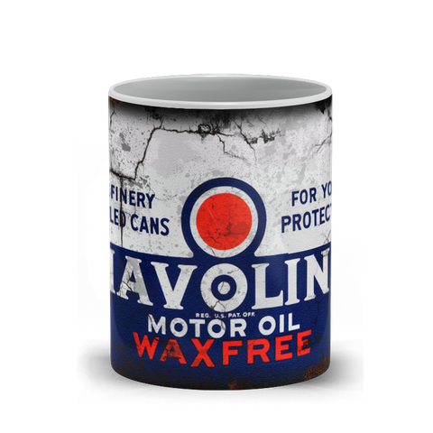 Havoline Motor Oil Vintage Distressed Retro Cool Mug