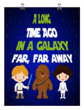 Star Wars inspired nursery decor art print - A Long Time Ago In A Galaxy Far Far Away -  Multiple Sizes