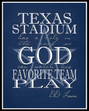 Dallas Cowboys - Texas Stadium Has A Hole In Its Roof So God Can Watch His Favorite Team Play - Perfect Gift Sports Art