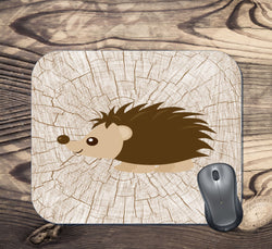 Woodland Hedgehog Mouse Pad