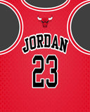 Jordan Jersey Chicago Bulls Art Print - Perfect gift for the Basketball fan, great for the office or fan/man cave