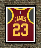 Lebron James Cleveland Cavaliers Art Print - Perfect gift for Basketball fan, great for the office or fan/man cave